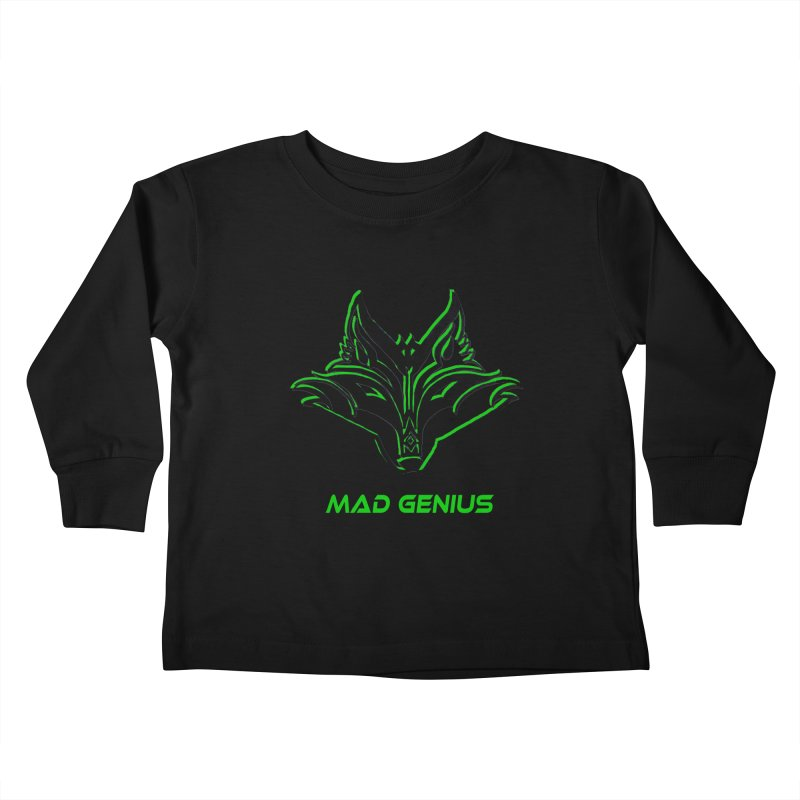 Mad Genius Fox MG Kids Toddler Longsleeve T-Shirt by The Mad Genius Artist Shop