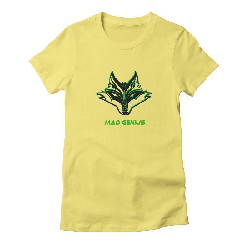 Mad Genius Fox MG Women's Fitted T-Shirt by The Mad Genius Artist Shop