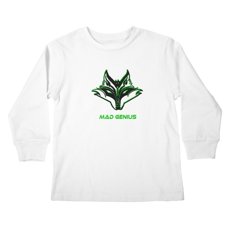 Mad Genius Fox MG Kids Longsleeve T-Shirt by The Mad Genius Artist Shop