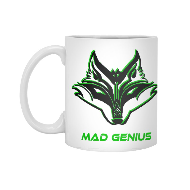 Mad Genius Fox MG Accessories Mug by The Mad Genius Artist Shop