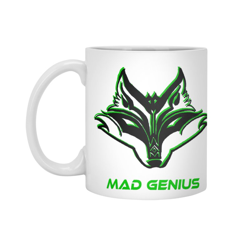 Mad Genius Fox MG Accessories Standard Mug by The Mad Genius Artist Shop