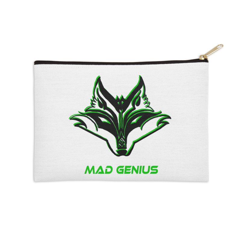 Mad Genius Fox MG Accessories Zip Pouch by The Mad Genius Artist Shop