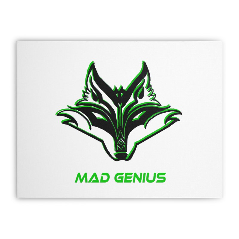 Mad Genius Fox MG Home Stretched Canvas by The Mad Genius Artist Shop