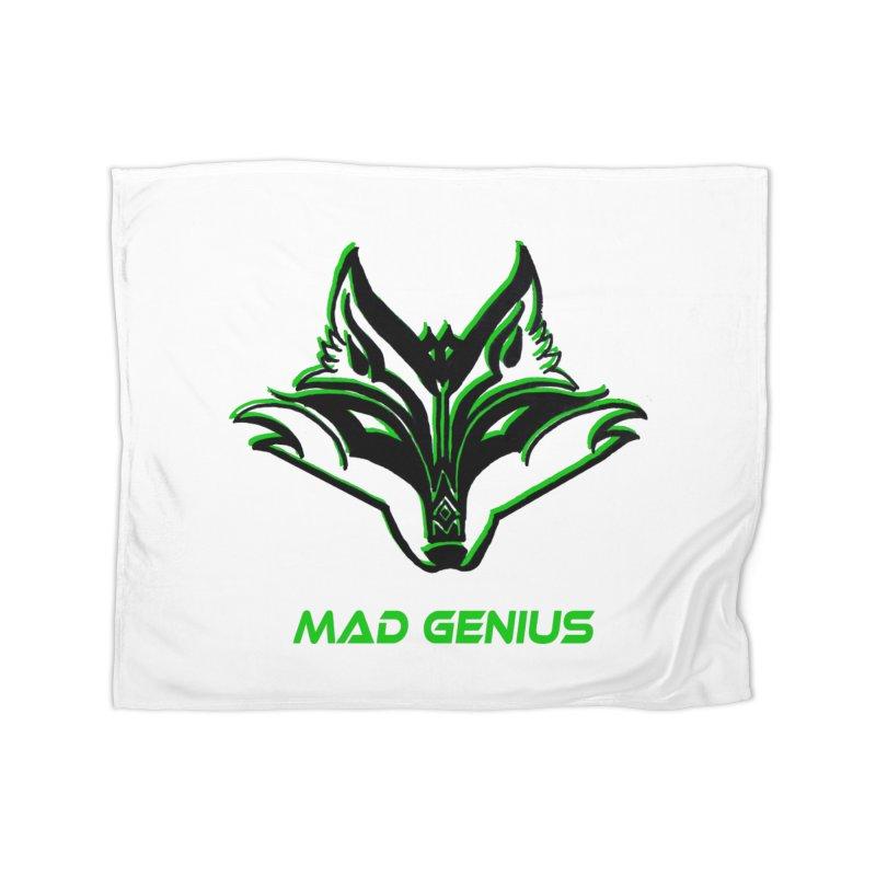 Mad Genius Fox MG Home Fleece Blanket Blanket by The Mad Genius Artist Shop