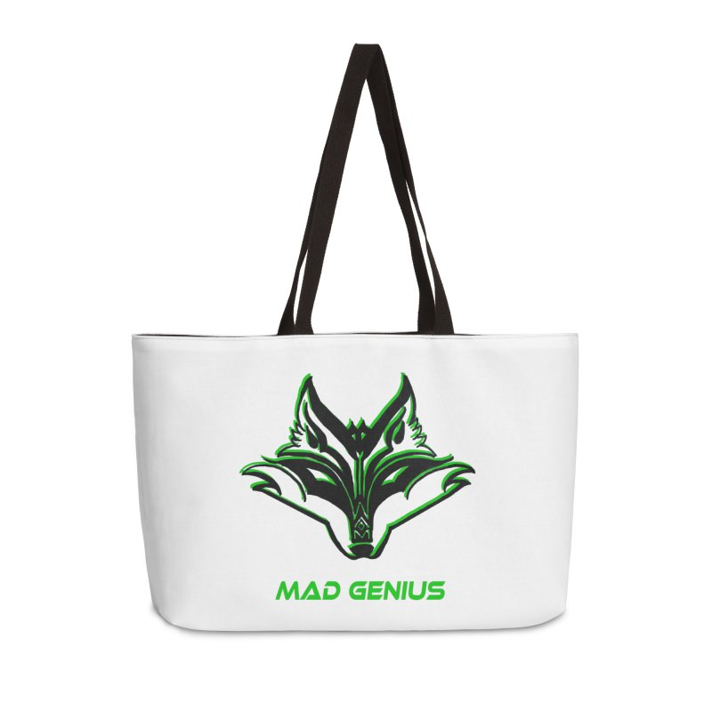 Mad Genius Fox MG Accessories Weekender Bag Bag by The Mad Genius Artist Shop