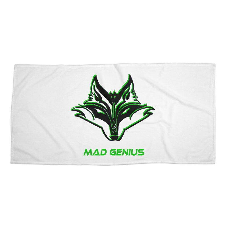 Mad Genius Fox MG Accessories Beach Towel by The Mad Genius Artist Shop