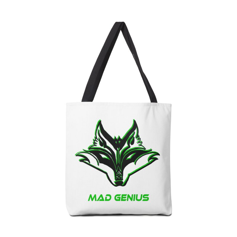 Mad Genius Fox MG Accessories Tote Bag Bag by The Mad Genius Artist Shop