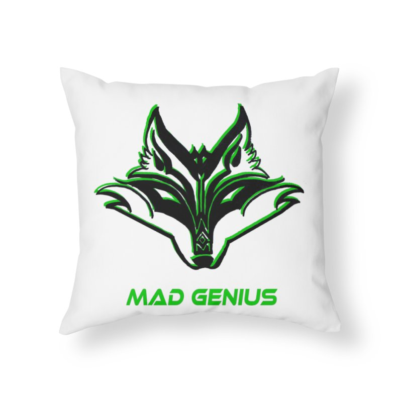 Mad Genius Fox MG Home Throw Pillow by The Mad Genius Artist Shop