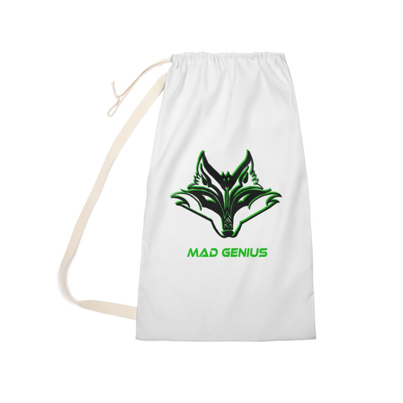 Mad Genius Fox MG Accessories Laundry Bag Bag by The Mad Genius Artist Shop