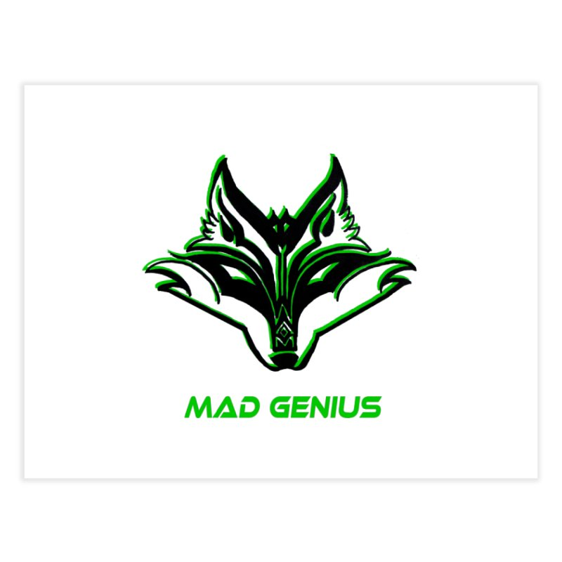 Mad Genius Fox MG Home Fine Art Print by The Mad Genius Artist Shop