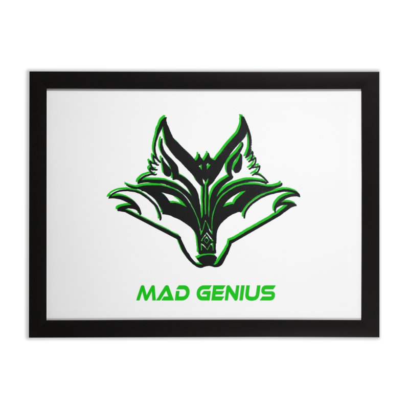 Mad Genius Fox MG Home Framed Fine Art Print by The Mad Genius Artist Shop