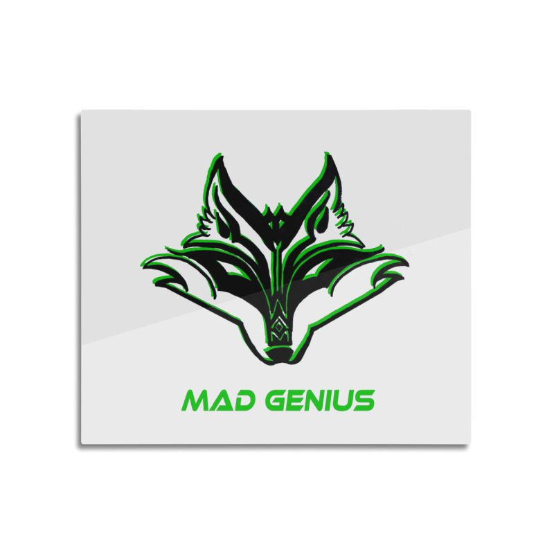 Mad Genius Fox MG Home Mounted Aluminum Print by The Mad Genius Artist Shop