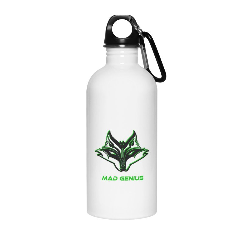 Mad Genius Fox MG in Water Bottle by The Mad Genius Artist Shop