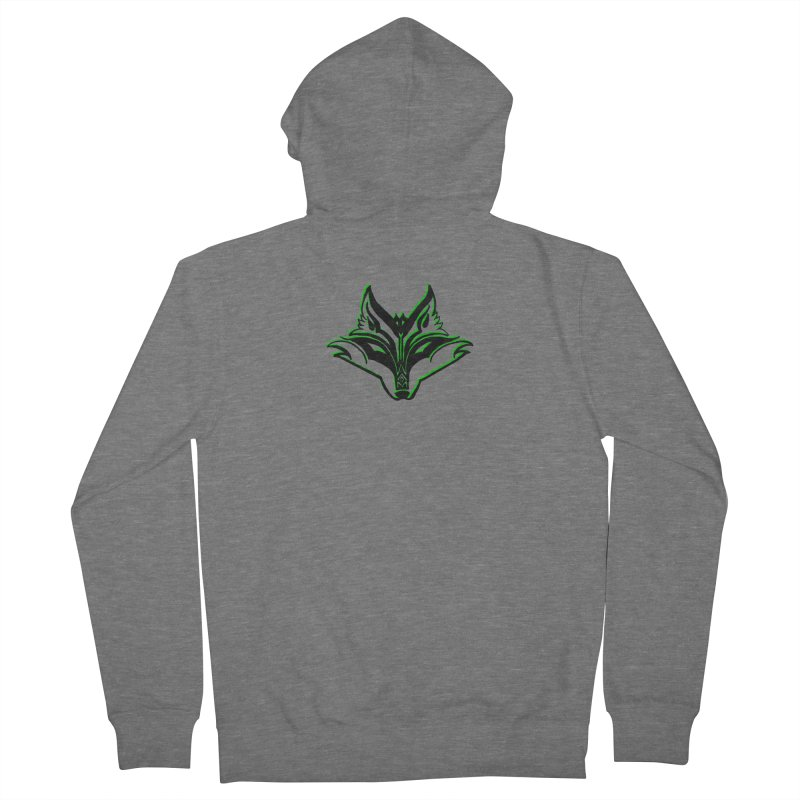 Mad Genius Fox Women's French Terry Zip-Up Hoody by The Mad Genius Artist Shop