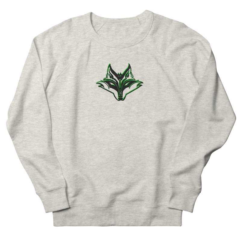 Mad Genius Fox Men's French Terry Sweatshirt by The Mad Genius Artist Shop