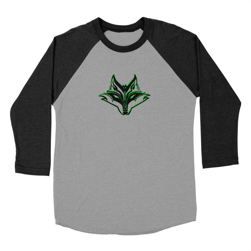 Mad Genius Fox Men's Baseball Triblend Longsleeve T-Shirt by The Mad Genius Artist Shop