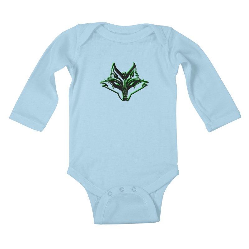 Mad Genius Fox Kids Baby Longsleeve Bodysuit by The Mad Genius Artist Shop