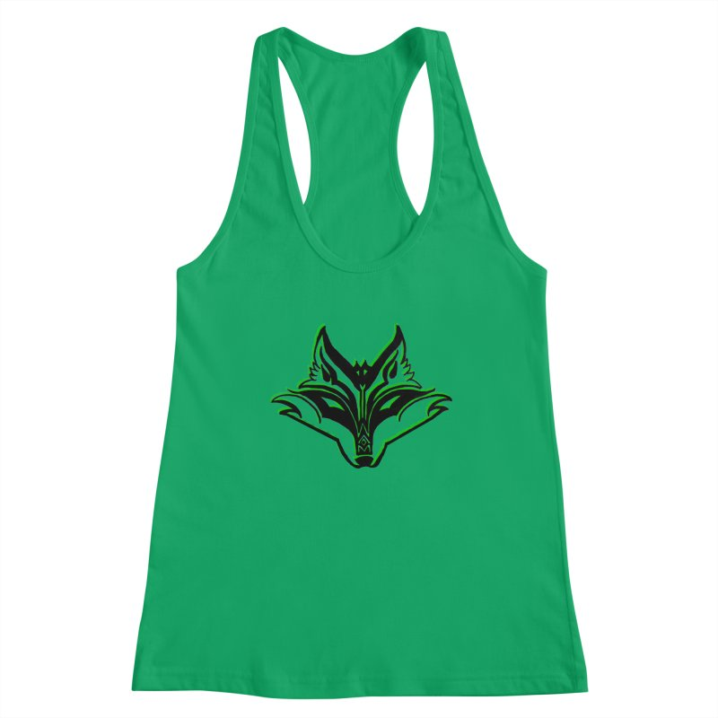 Mad Genius Fox Women's Racerback Tank by The Mad Genius Artist Shop