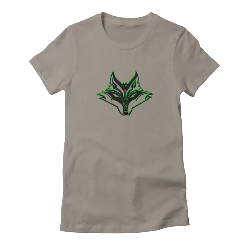Mad Genius Fox Women's Fitted T-Shirt by The Mad Genius Artist Shop