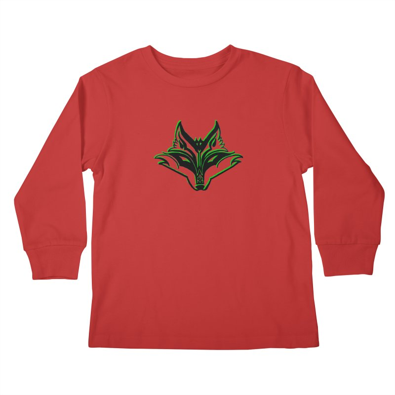 Mad Genius Fox Kids Longsleeve T-Shirt by The Mad Genius Artist Shop