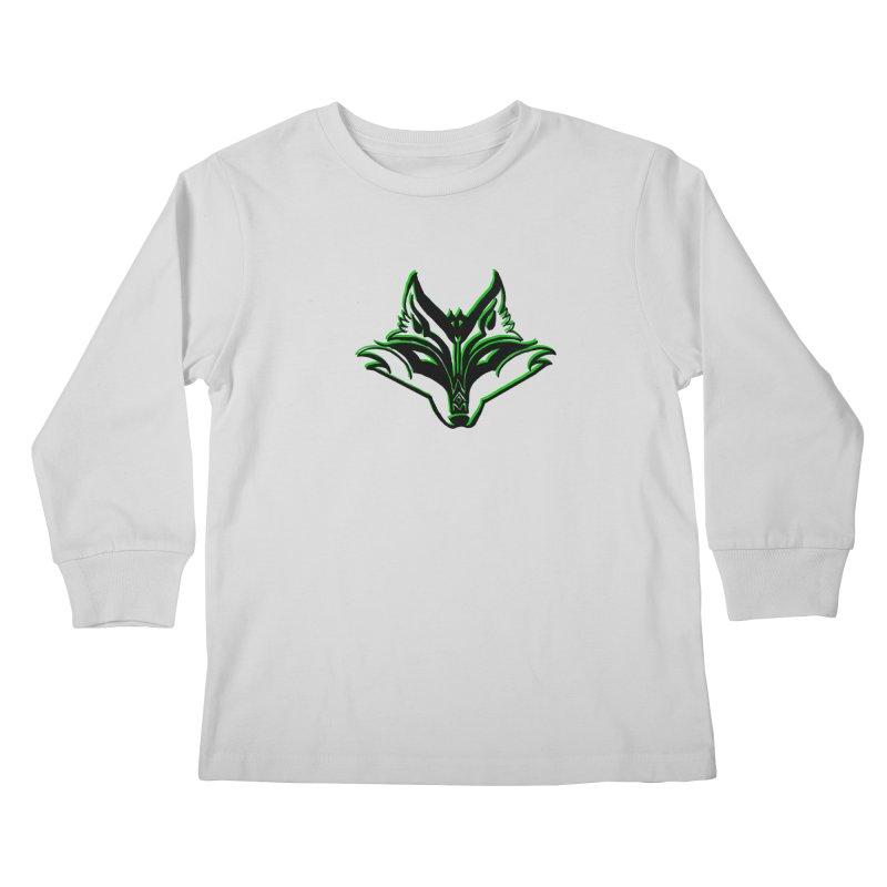 Mad Genius Fox Kids Longsleeve T-Shirt by The Mad Genius Artist Shop