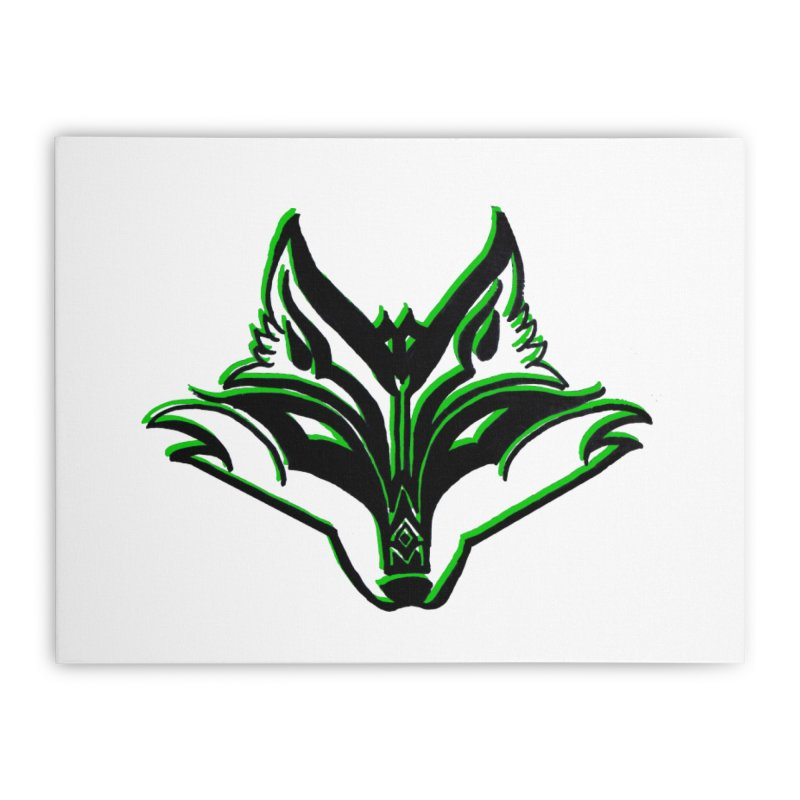 Mad Genius Fox Home Stretched Canvas by The Mad Genius Artist Shop