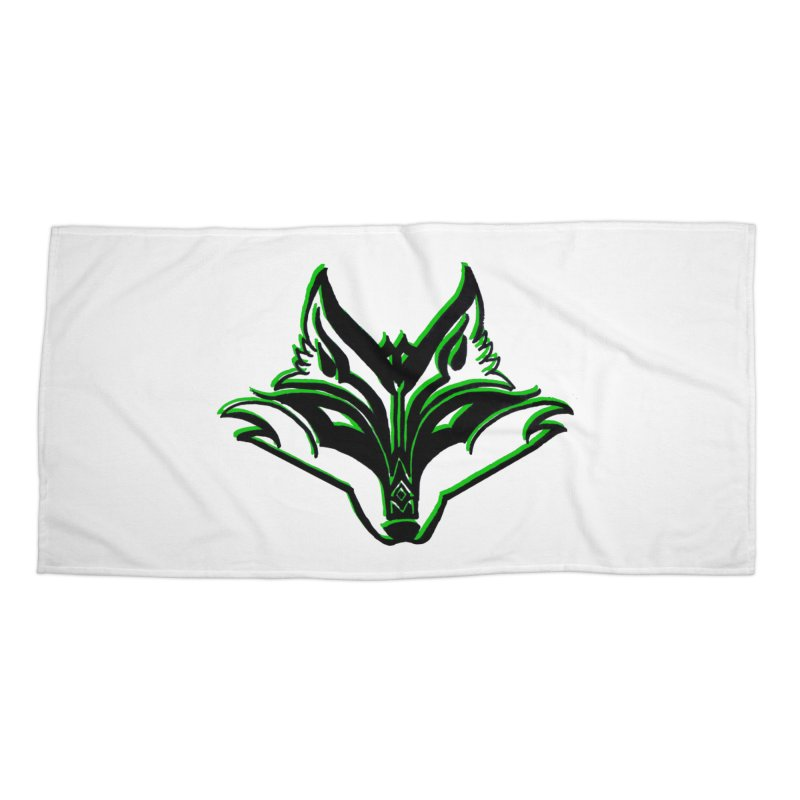 Mad Genius Fox Accessories Beach Towel by The Mad Genius Artist Shop
