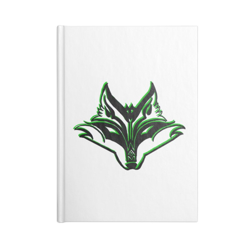 Mad Genius Fox Accessories Lined Journal Notebook by The Mad Genius Artist Shop