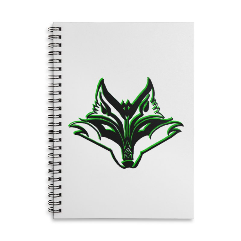 Mad Genius Fox Accessories Lined Spiral Notebook by The Mad Genius Artist Shop