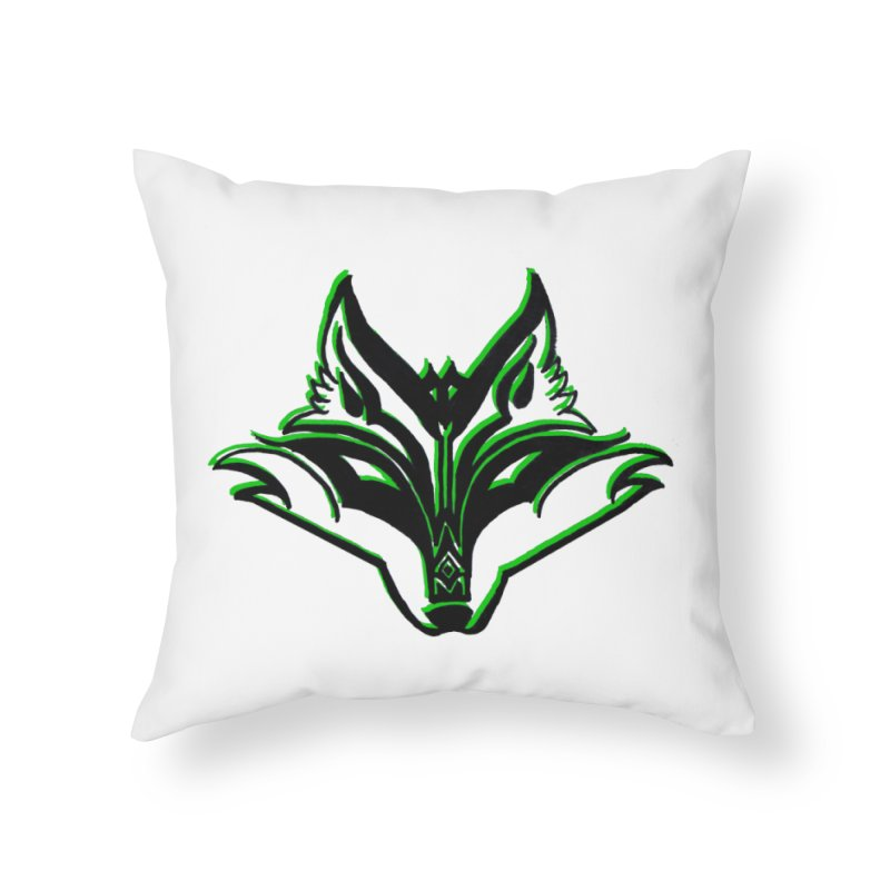 Mad Genius Fox Home Throw Pillow by The Mad Genius Artist Shop