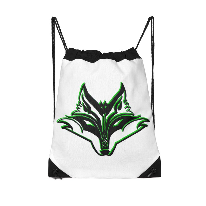 Mad Genius Fox Accessories Drawstring Bag Bag by The Mad Genius Artist Shop