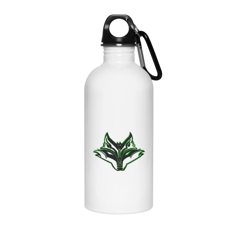 Mad Genius Fox Accessories Water Bottle by The Mad Genius Artist Shop