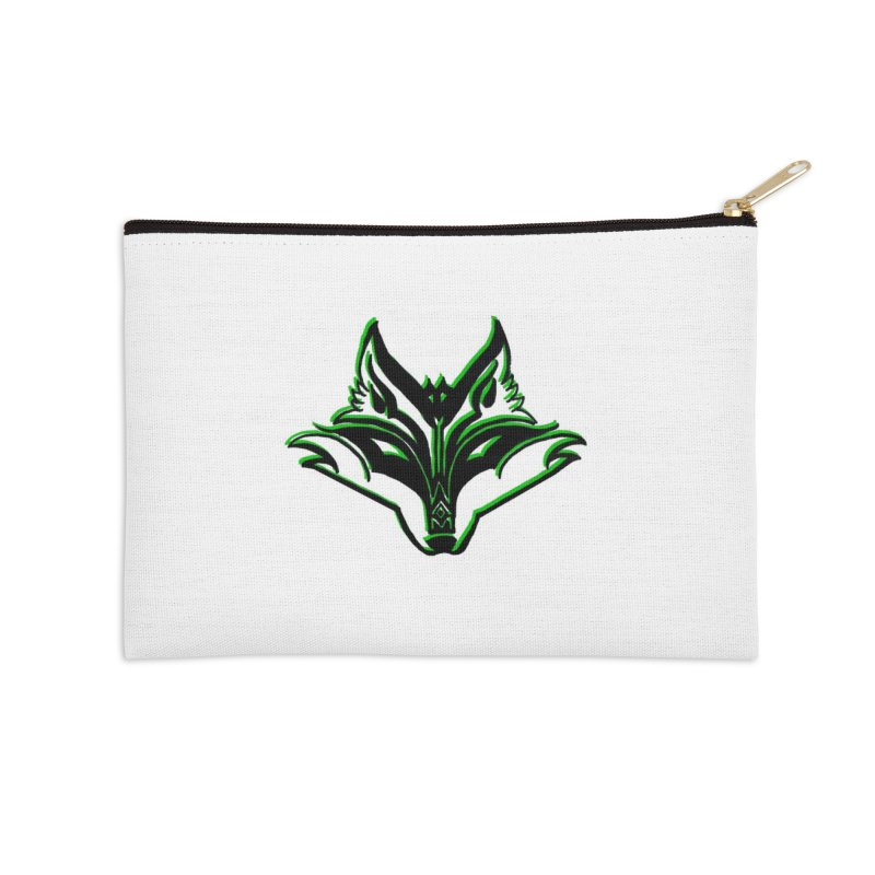 Mad Genius Fox Accessories Zip Pouch by The Mad Genius Artist Shop