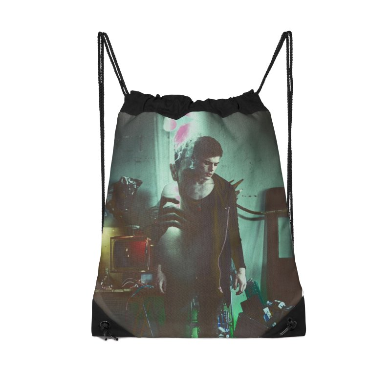 Mad Genius VIX Accessories Drawstring Bag Bag by The Mad Genius Artist Shop