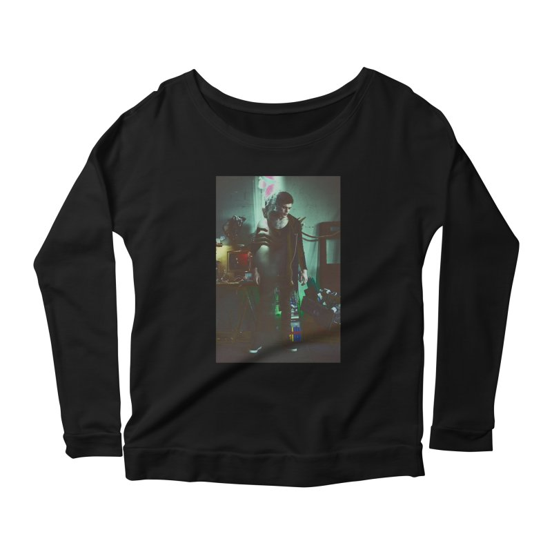Mad Genius VIX Women's Longsleeve Scoopneck  by The Mad Genius Artist Shop