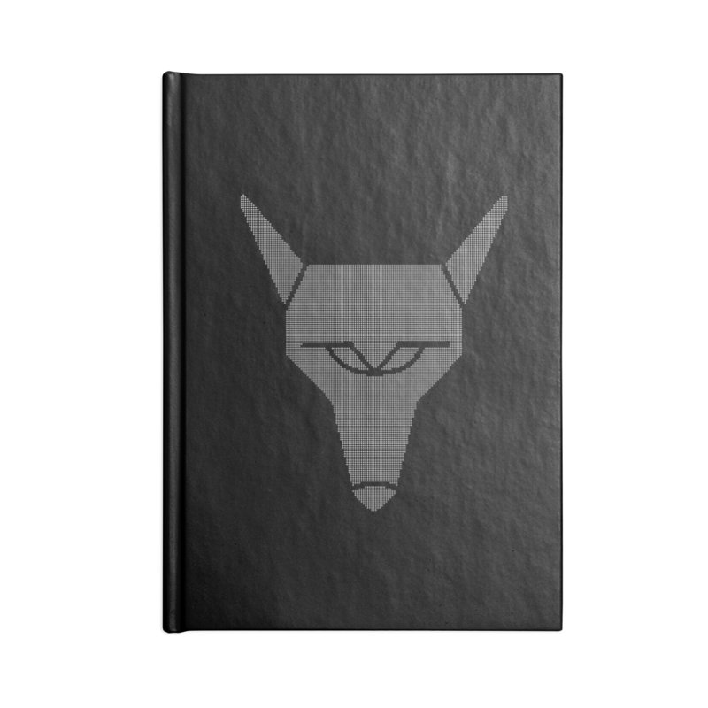 Mad Genius White Hat Fox Accessories Notebook by The Mad Genius Artist Shop