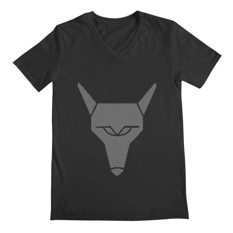 Mad Genius White Hat Fox Men's V-Neck by The Mad Genius Artist Shop