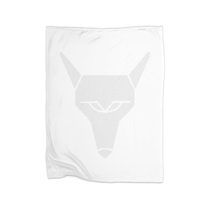 Mad Genius White Hat Fox Home Blanket by The Mad Genius Artist Shop