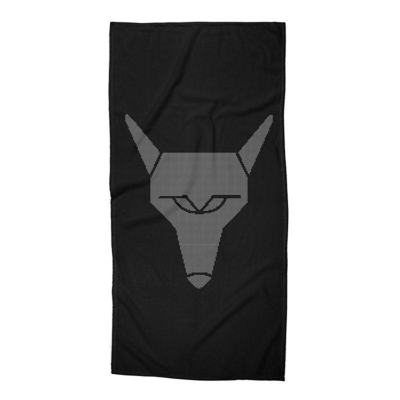 Mad Genius White Hat Fox Accessories Beach Towel by The Mad Genius Artist Shop
