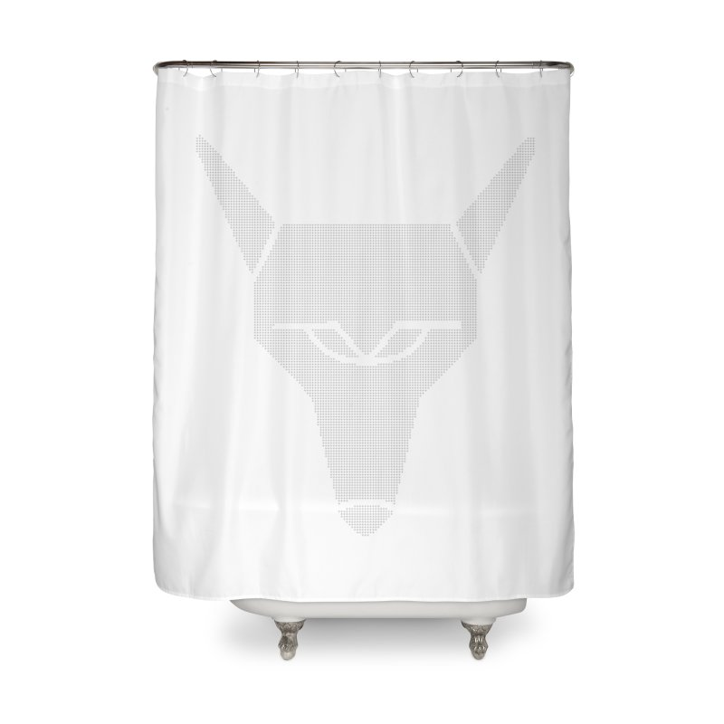 Mad Genius White Hat Fox Home Shower Curtain by The Mad Genius Artist Shop