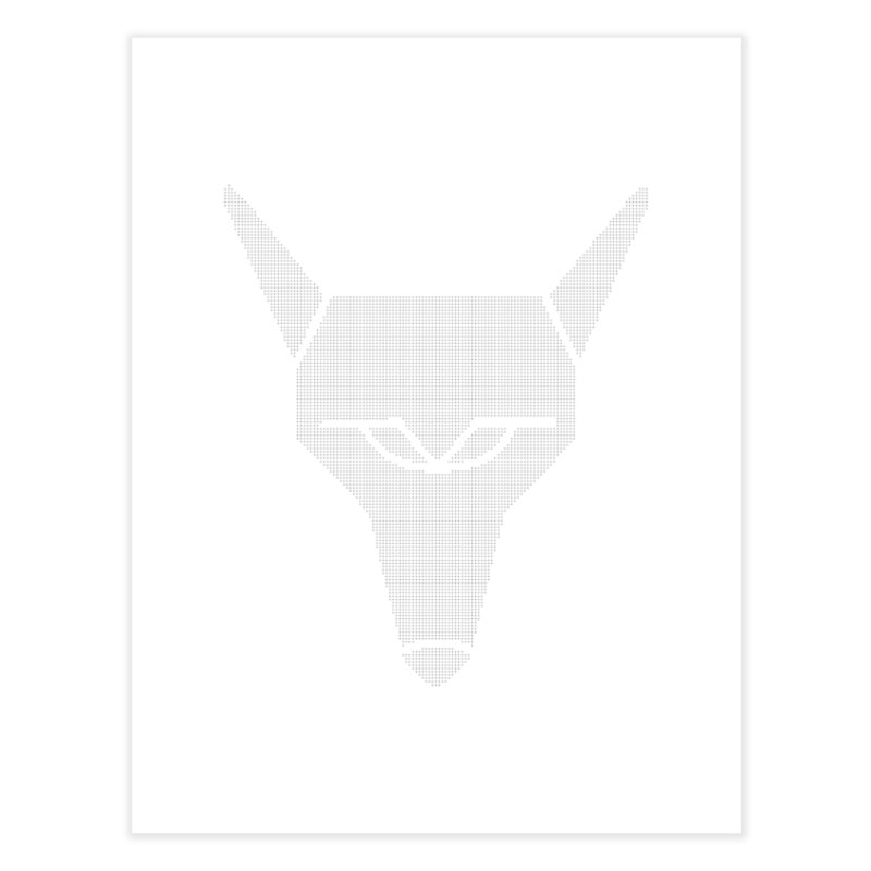 Mad Genius White Hat Fox Home Fine Art Print by The Mad Genius Artist Shop
