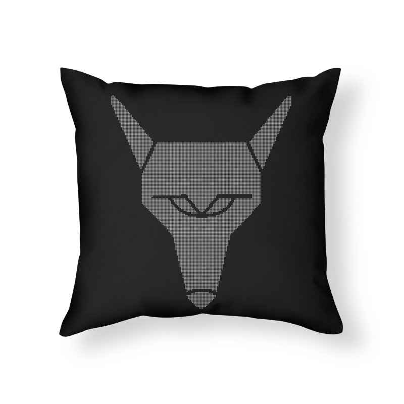 Mad Genius White Hat Fox Home Throw Pillow by The Mad Genius Artist Shop