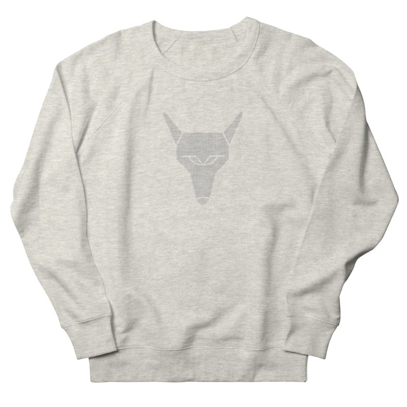 Mad Genius White Hat Fox Women's French Terry Sweatshirt by The Mad Genius Artist Shop
