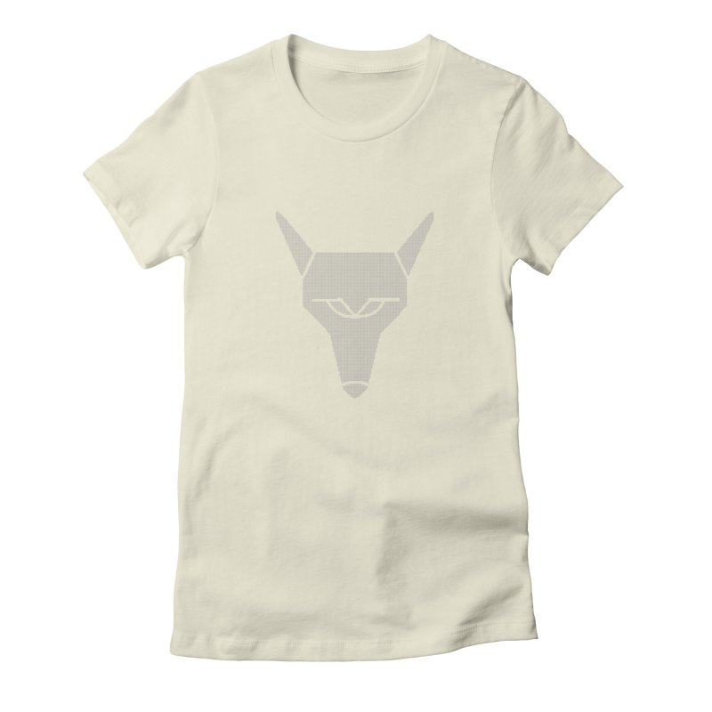 Mad Genius White Hat Fox Women's Fitted T-Shirt by The Mad Genius Artist Shop