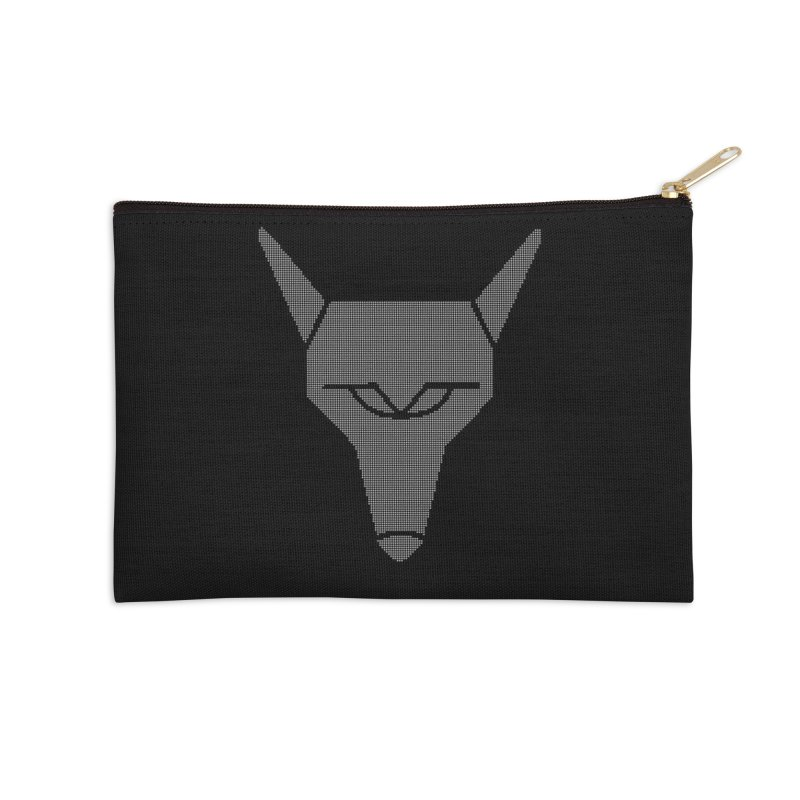 Mad Genius White Hat Fox Accessories Zip Pouch by The Mad Genius Artist Shop