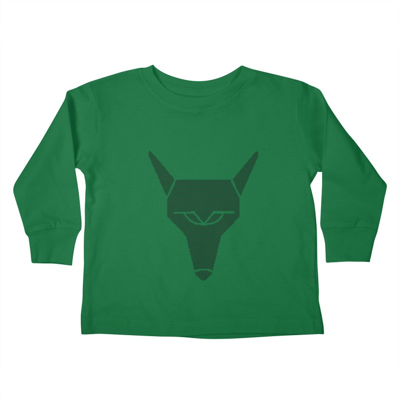 Mad Genius Black Hat Fox Kids Toddler Longsleeve T-Shirt by The Mad Genius Artist Shop