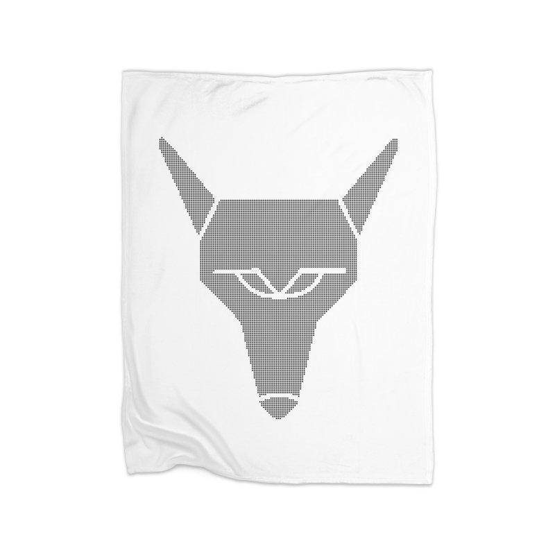 Mad Genius Black Hat Fox Home Blanket by The Mad Genius Artist Shop