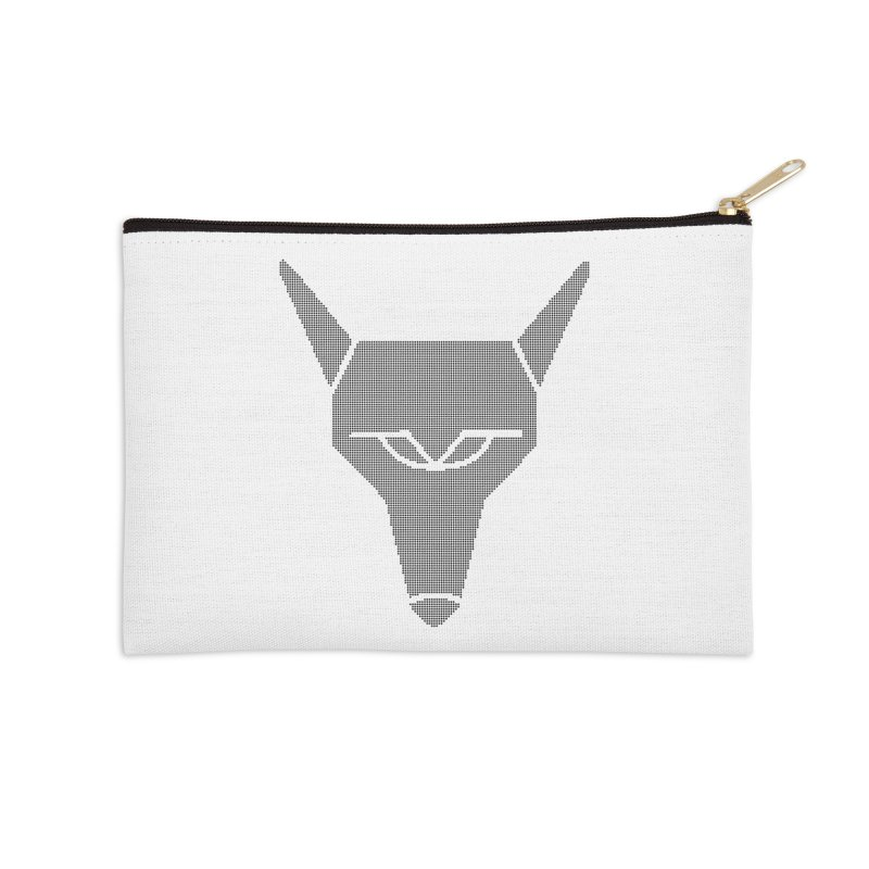 Mad Genius Black Hat Fox Accessories Zip Pouch by The Mad Genius Artist Shop
