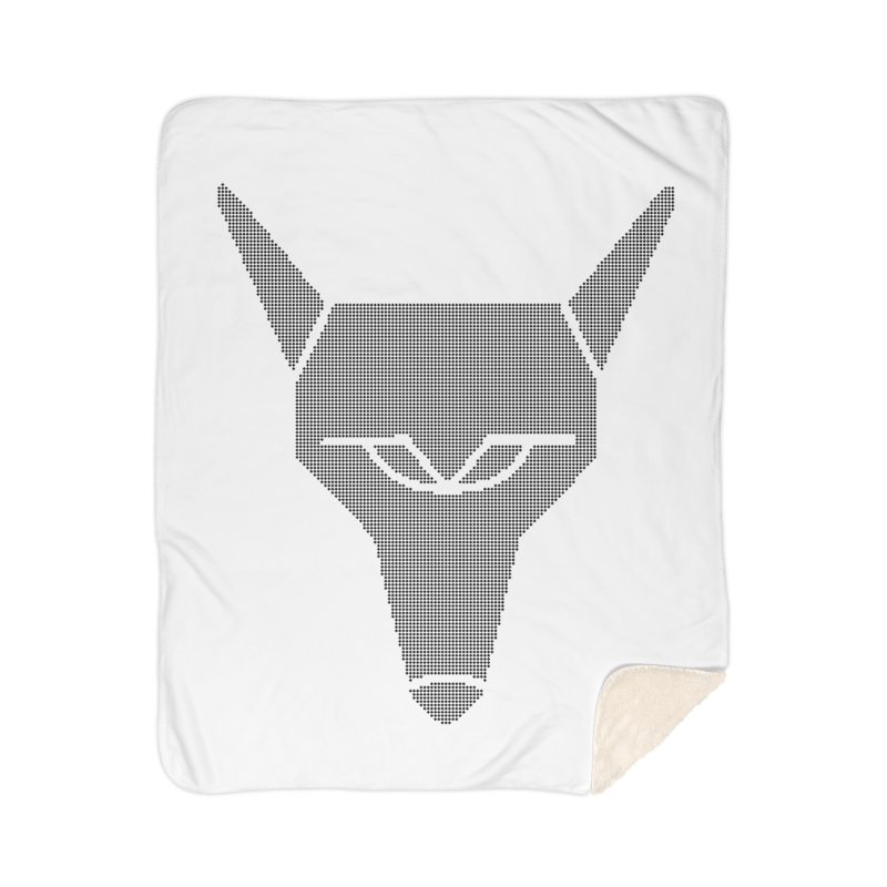 Mad Genius Black Hat Fox Home Sherpa Blanket Blanket by The Mad Genius Artist Shop