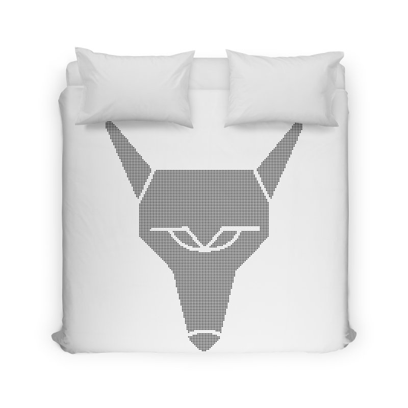 Mad Genius Black Hat Fox Home Duvet by The Mad Genius Artist Shop